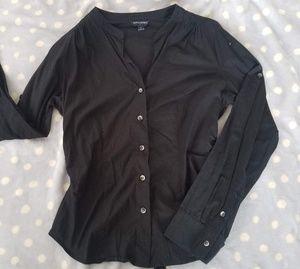 Banana Republic  black button down blouse